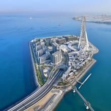 Bluewatwers Island, where Ain Dubai stands out