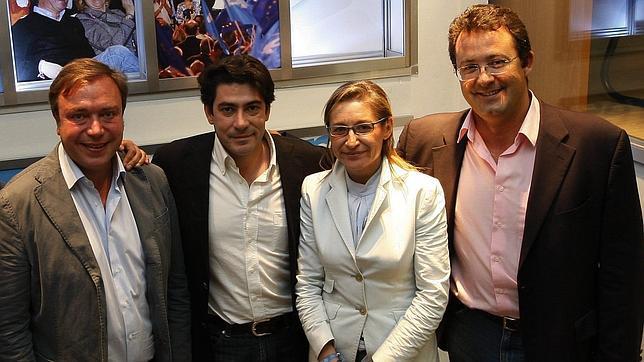 De izq. a dcha. Jesús Gómez (Leganés), David Pérez (Alcorcón), M. José Martínez de la Fuente (Aranjuez) y Juan Soler (Getafe)